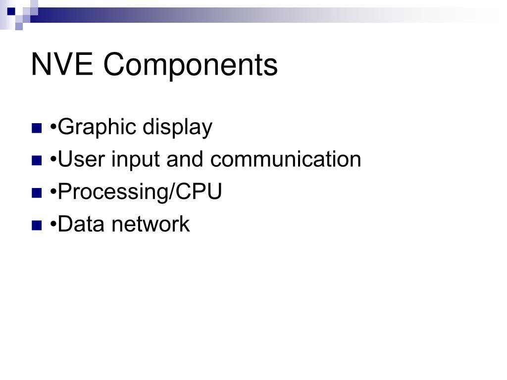 NVE Components