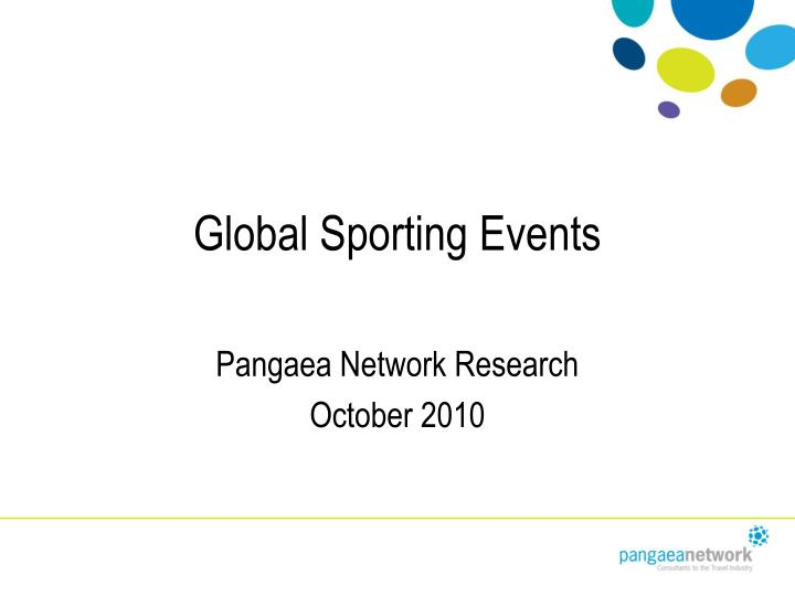 Global sporting events