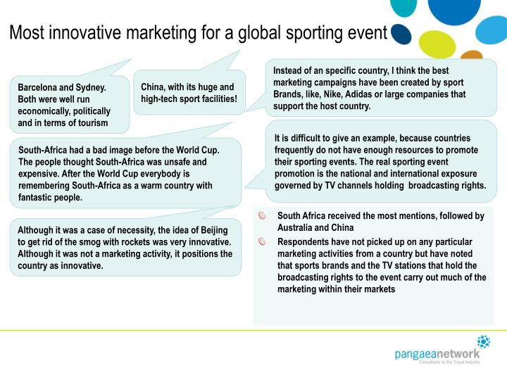 Most innovative marketing for a global sporting event