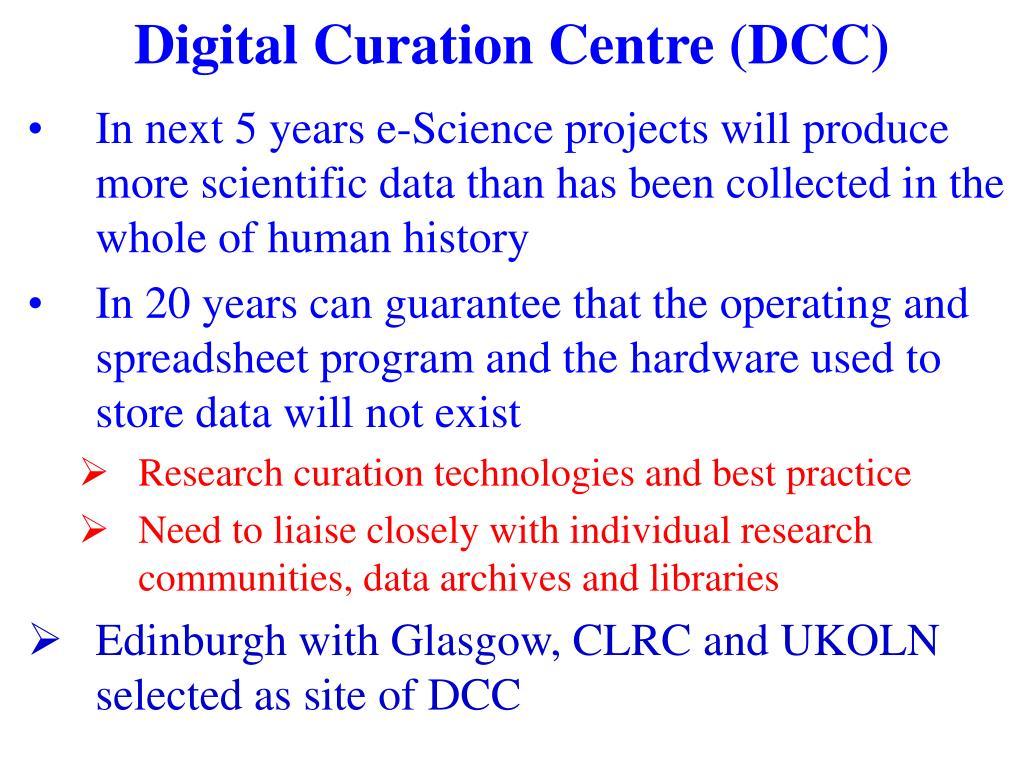 Digital Curation Centre (DCC)