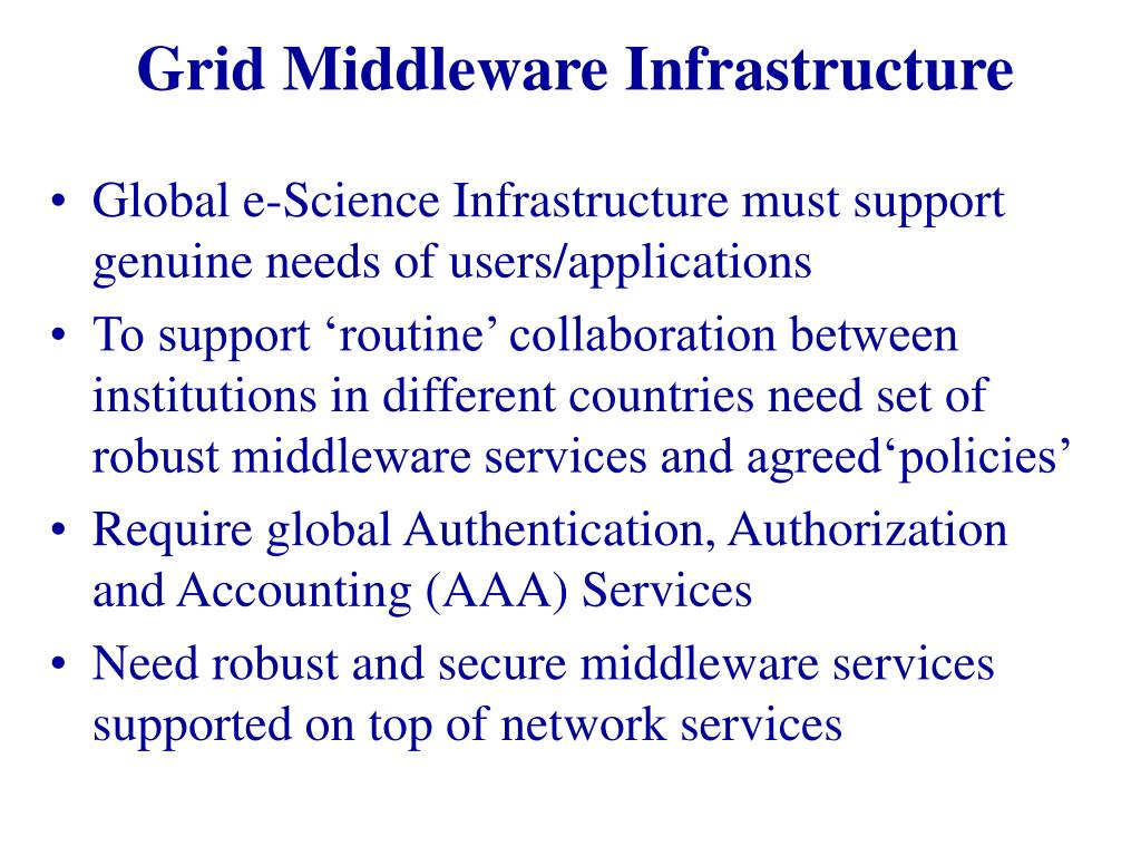 Grid Middleware Infrastructure