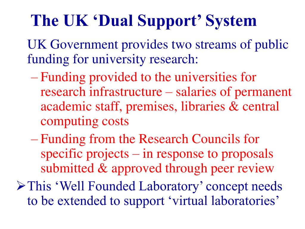 The UK 'Dual Support' System