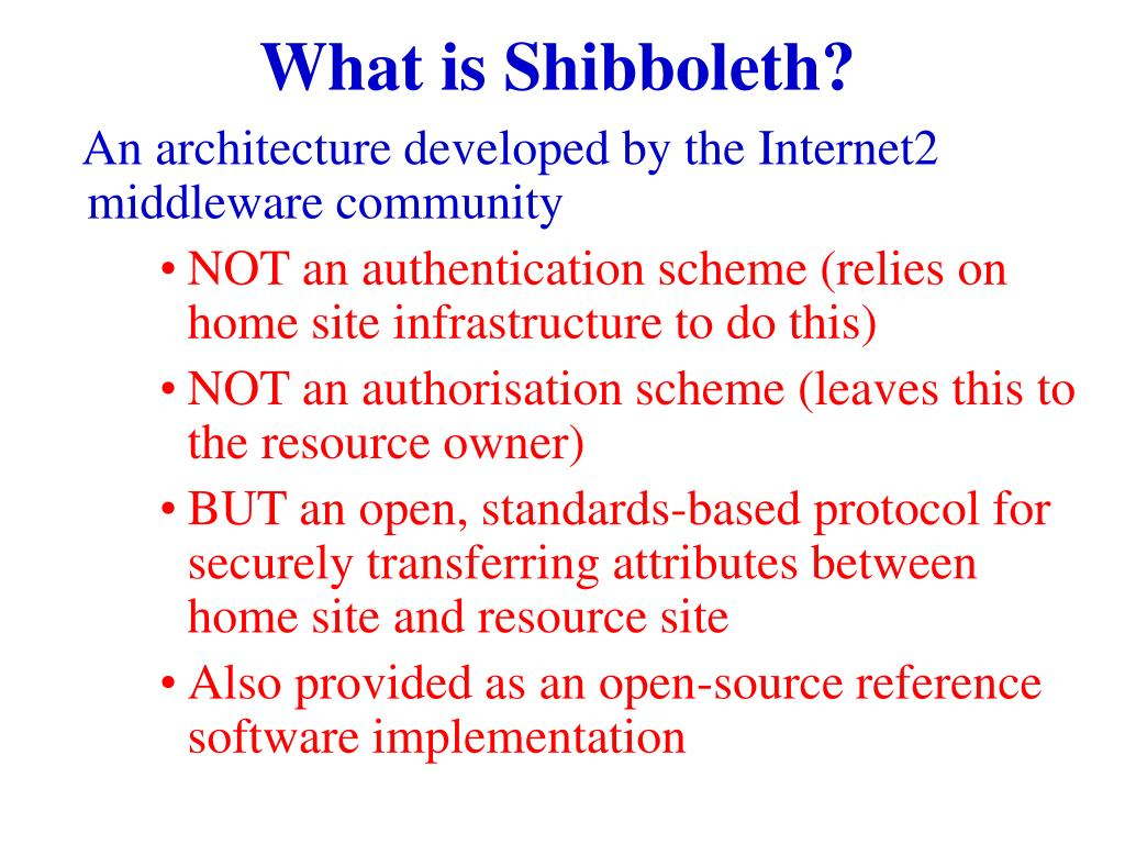 What is Shibboleth?