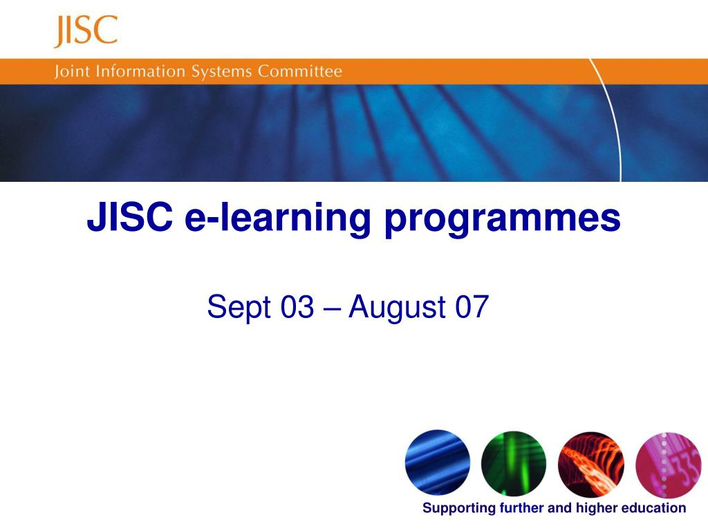 JISC e-learning programmes