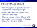 office 2007 and osisoft