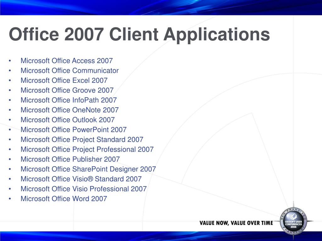 Office 2007 Client Applications