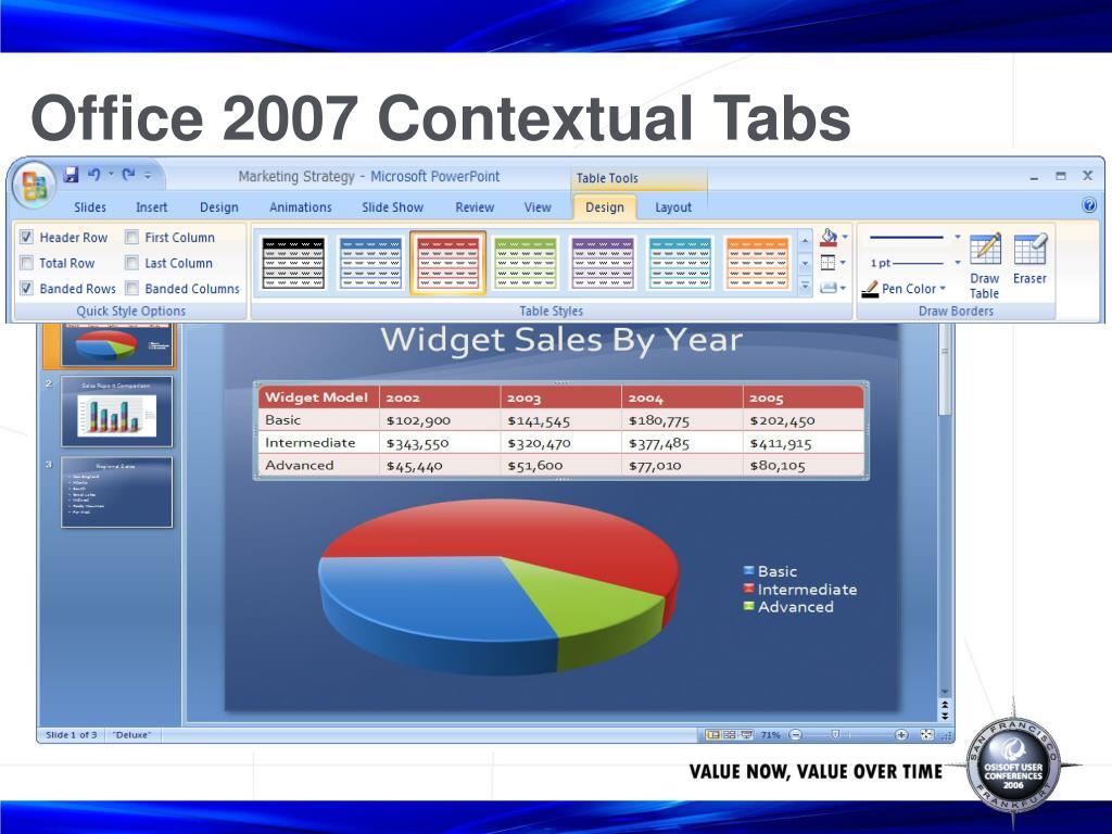 Office 2007 Contextual Tabs