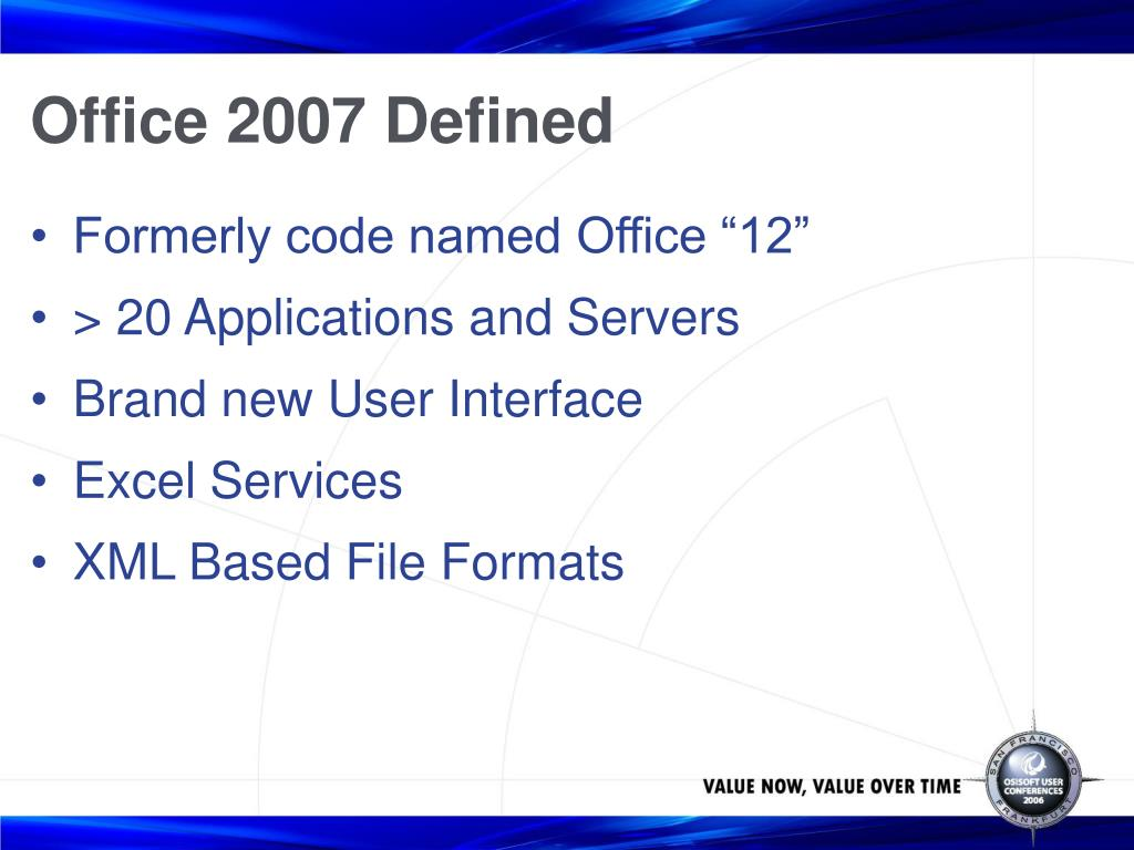 Office 2007 Defined