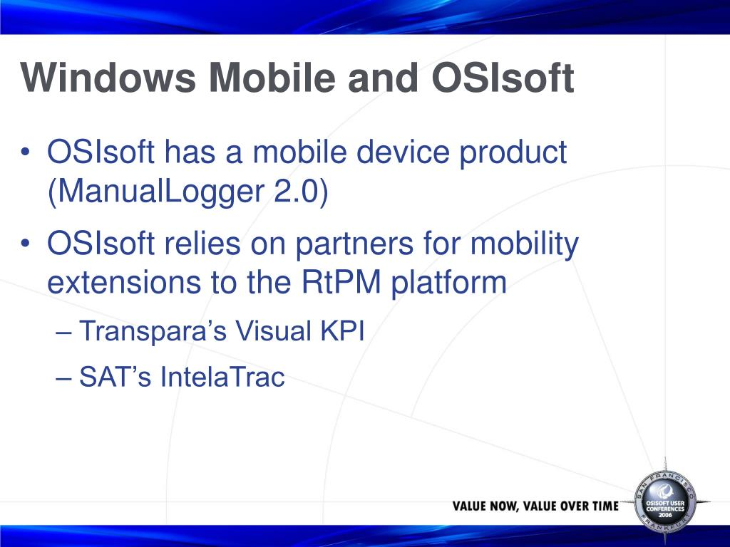 Windows Mobile and OSIsoft
