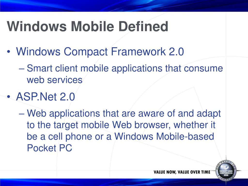 Windows Mobile Defined