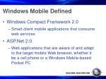 windows mobile defined