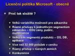 licen n politika microsoft obecn