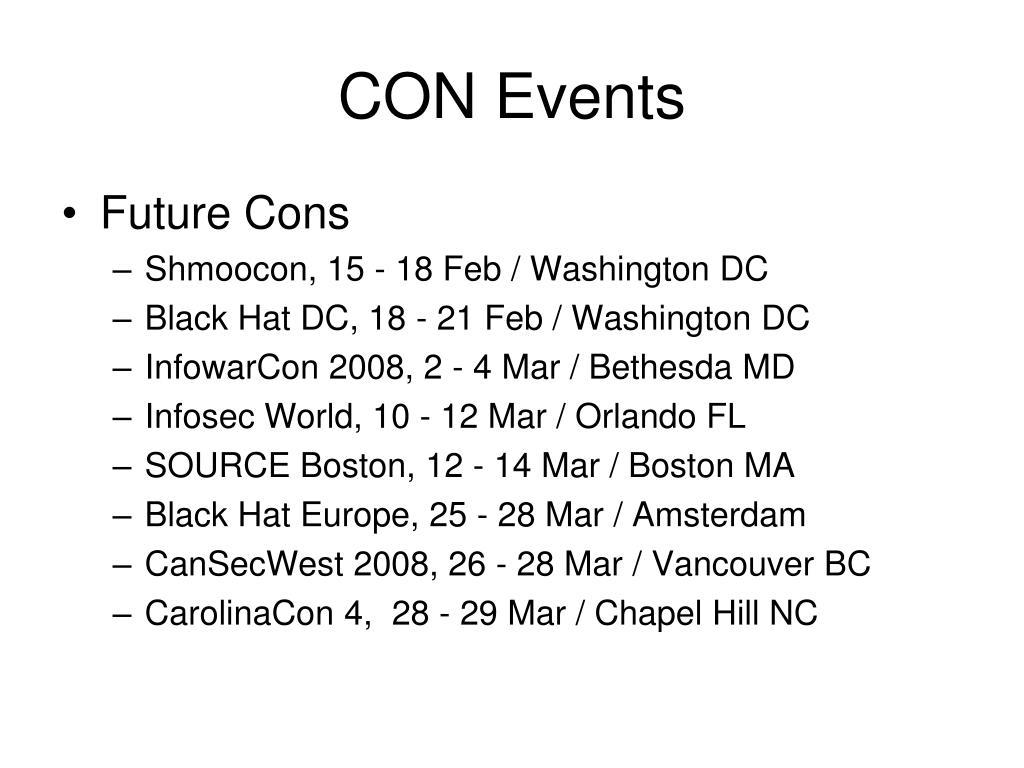 CON Events
