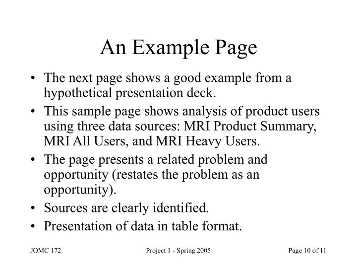 An Example Page