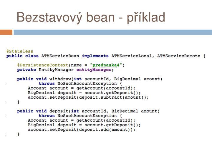 Bezstavový bean - příklad