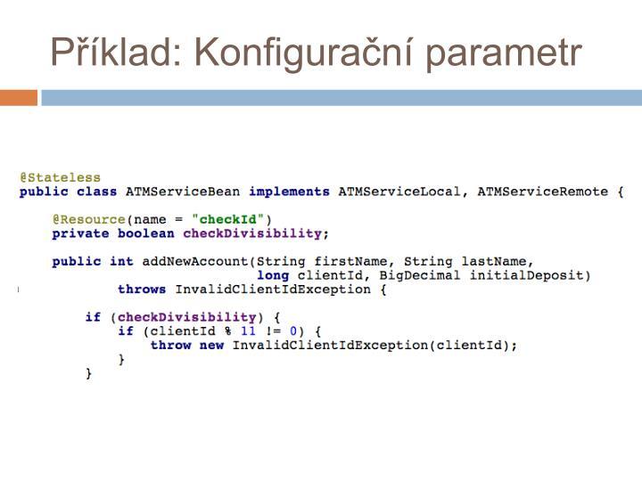Příklad: Konfigurační parametr