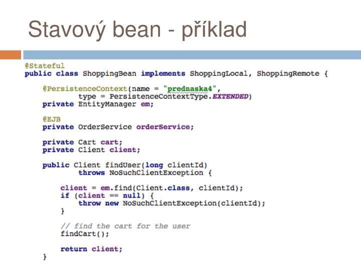 Stavový bean - příklad