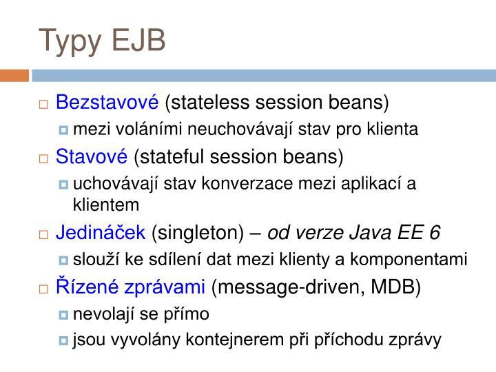 Typy EJB