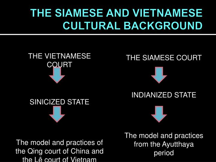 THE SIAMESE AND VIETNAMESE