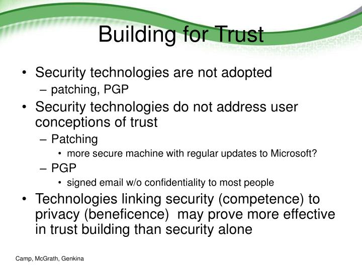 Building for Trust