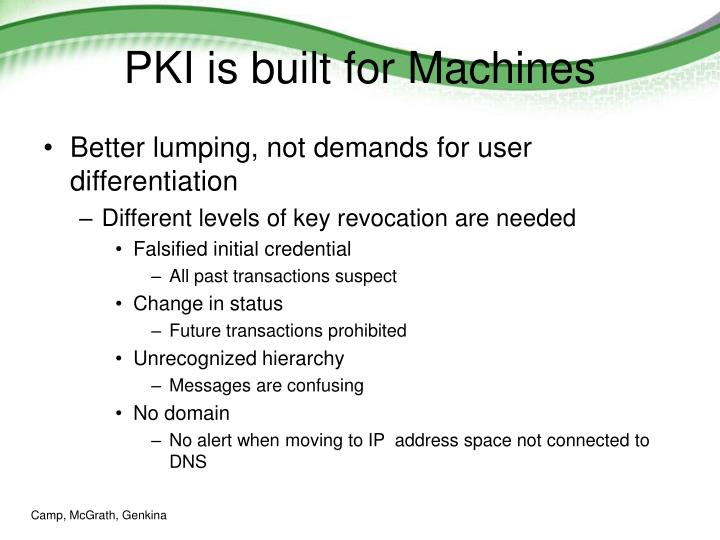 PKI is built for Machines