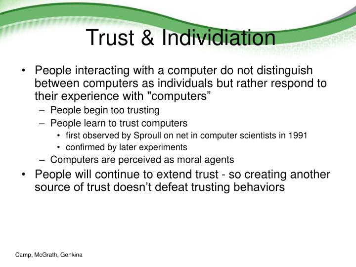 Trust & Individiation