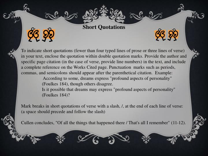 Short Quotations