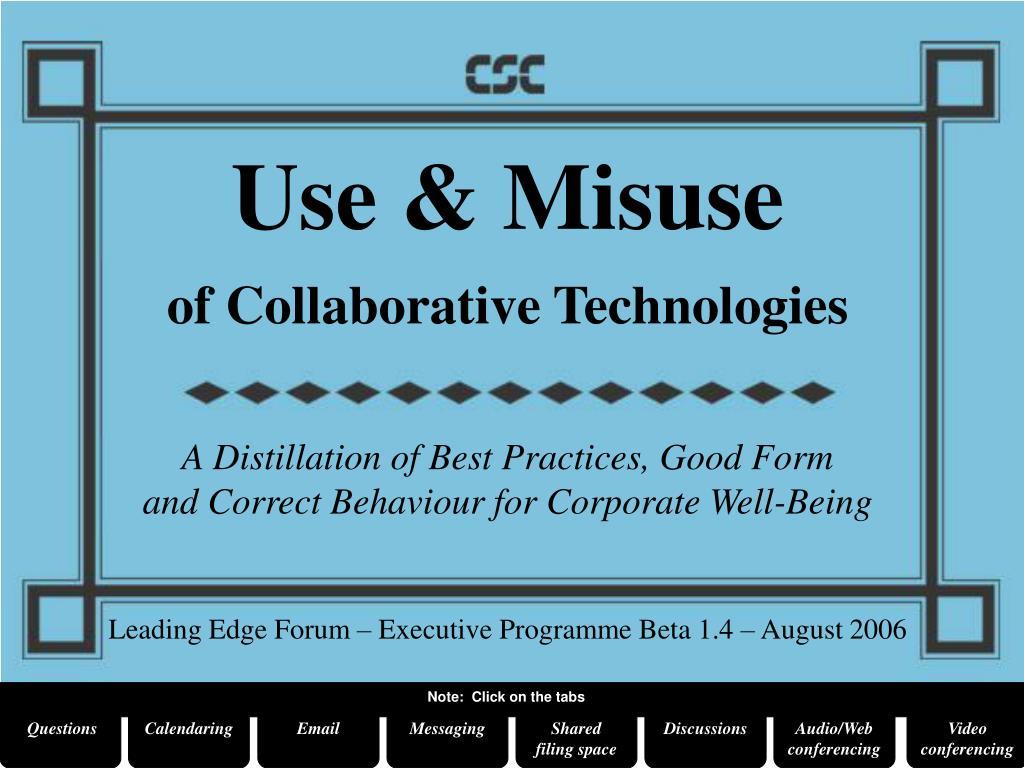 Use & Misuse