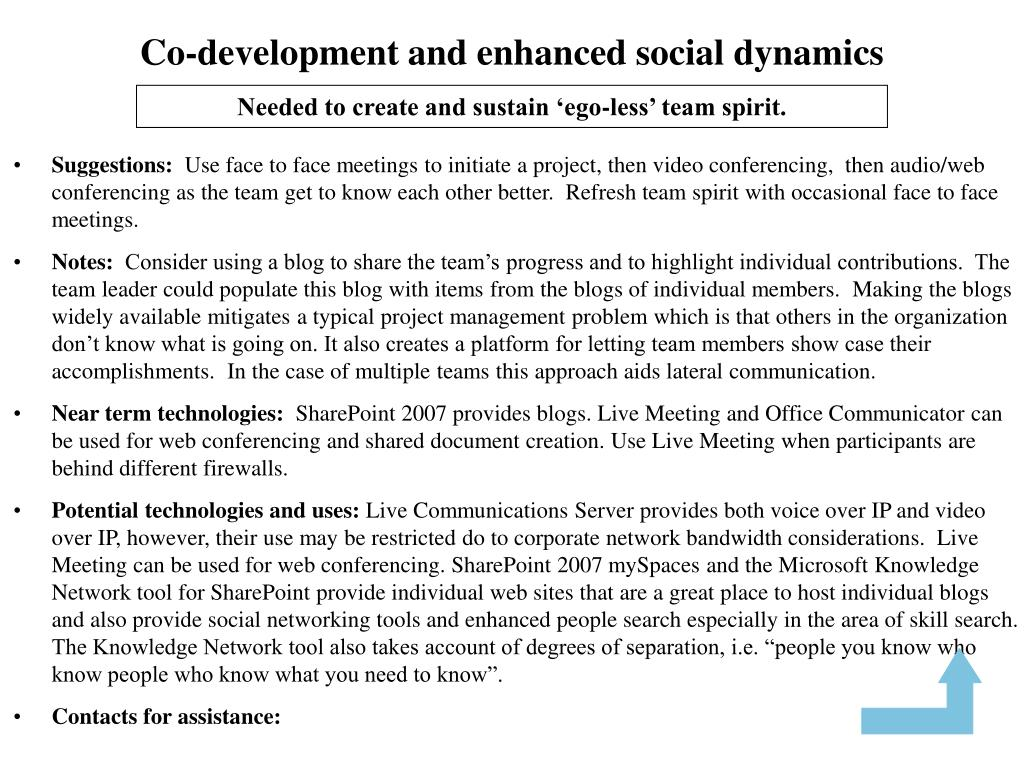 Co-development and enhanced social dynamics