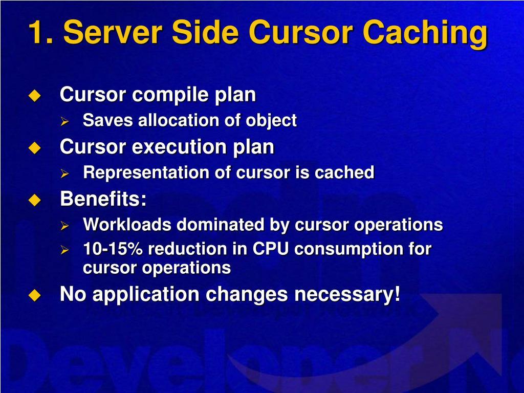 1. Server Side Cursor Caching