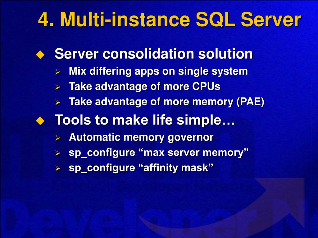 4. Multi-instance SQL Server