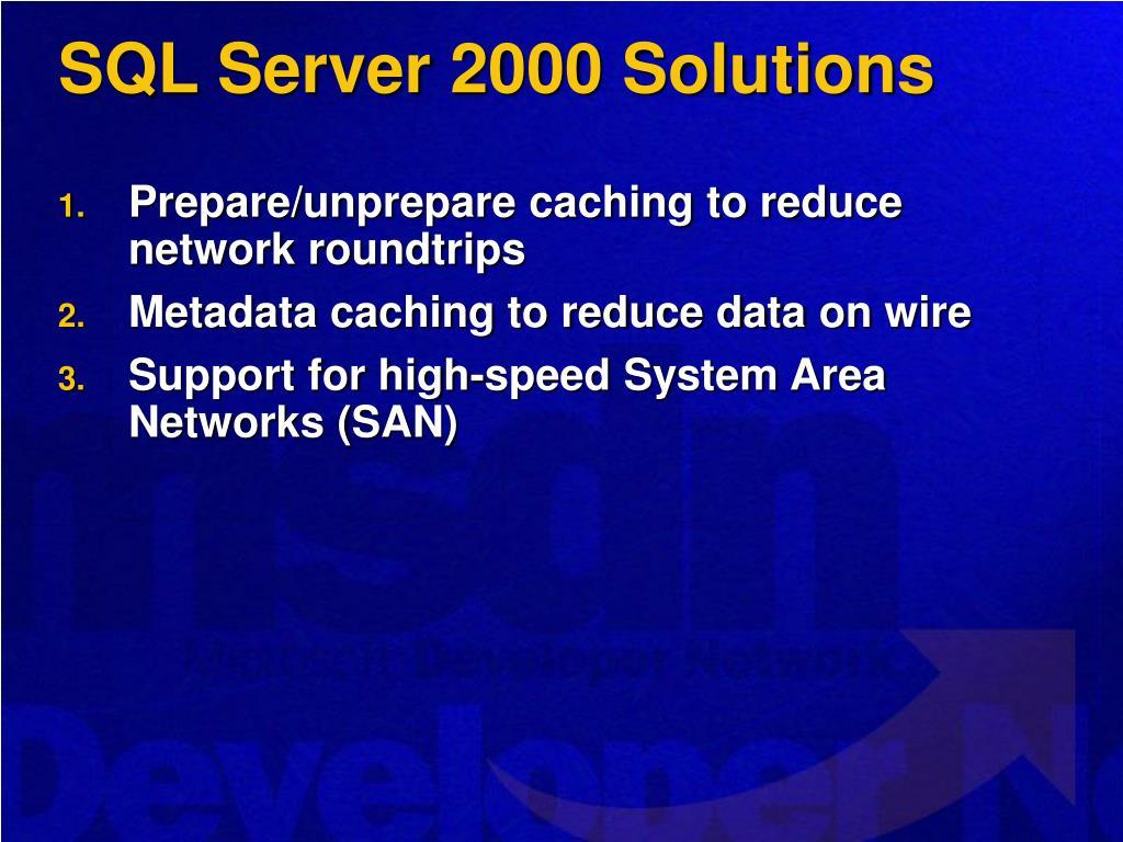 SQL Server 2000 Solutions