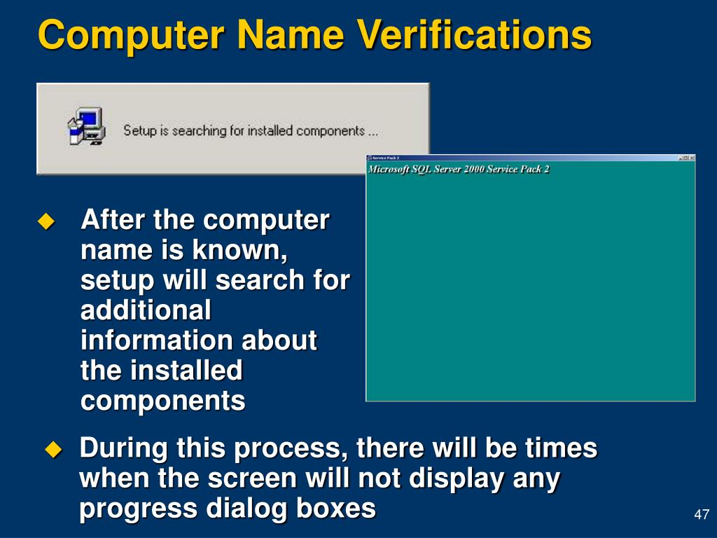 Computer Name Verifications