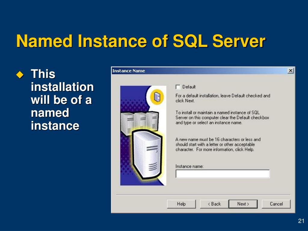 Named Instance of SQL Server