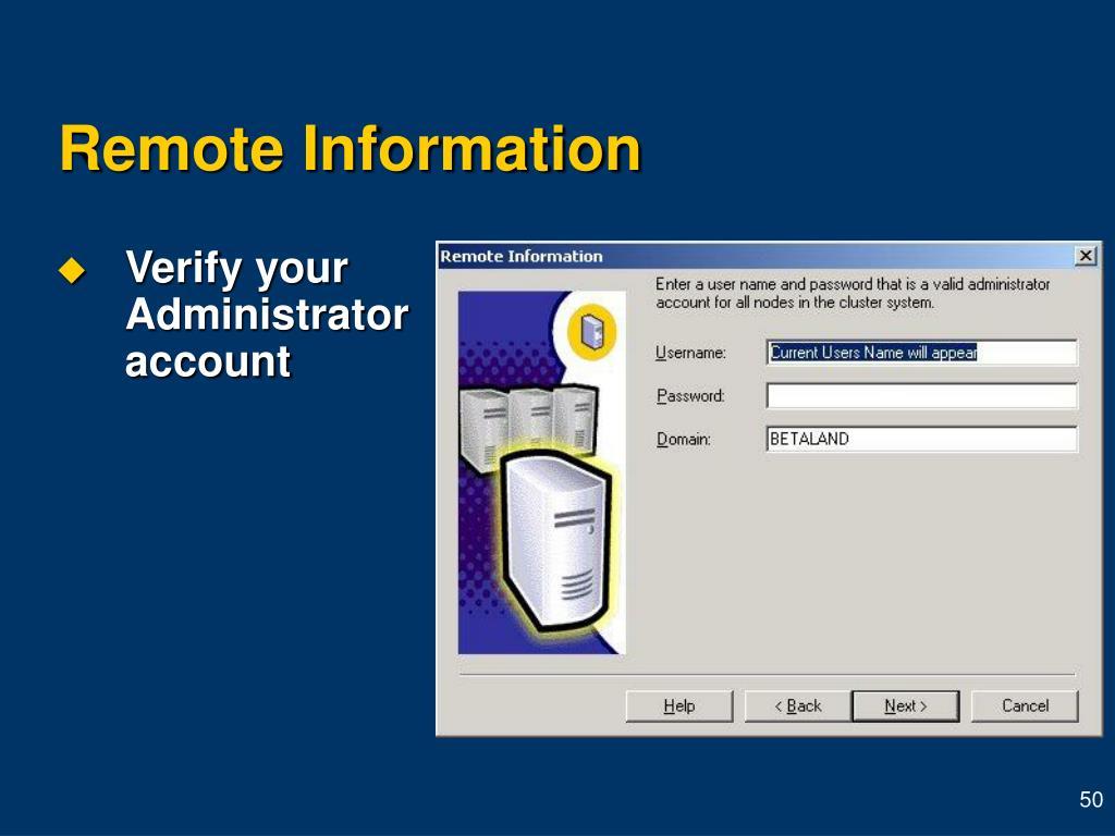 Remote Information