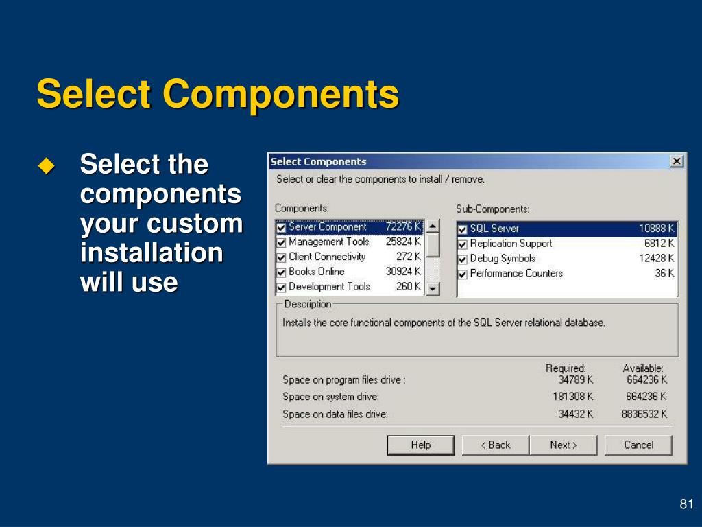 Select Components