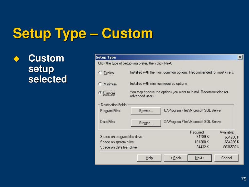 Setup Type