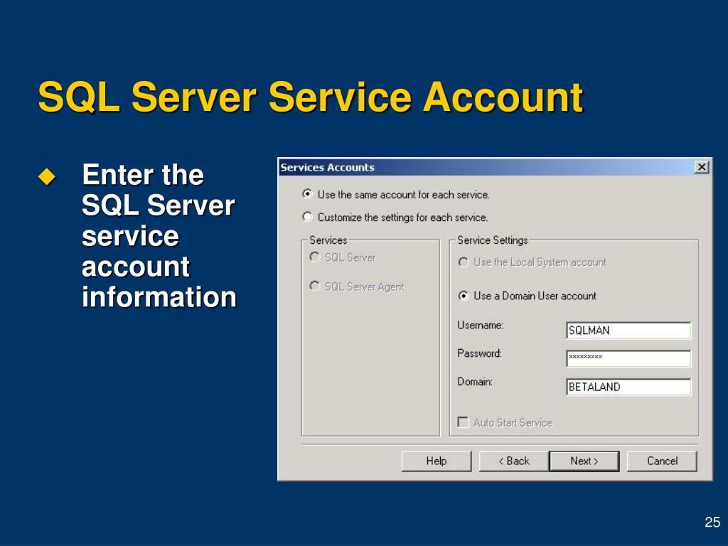 SQL Server Service Account