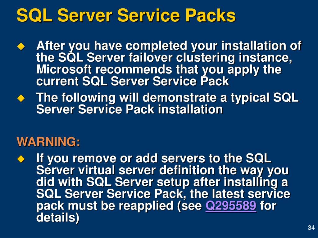 SQL Server Service Packs