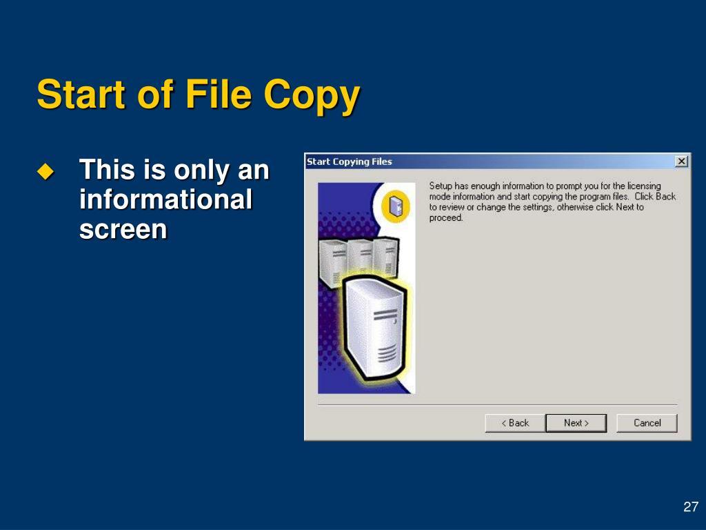 Start of File Copy
