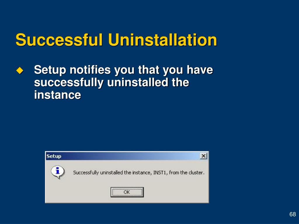 Successful Uninstallation