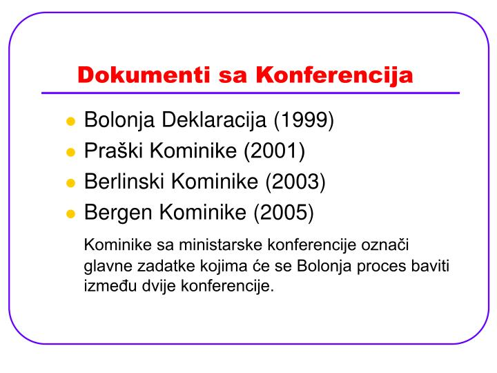 Dokumenti sa Konferencija