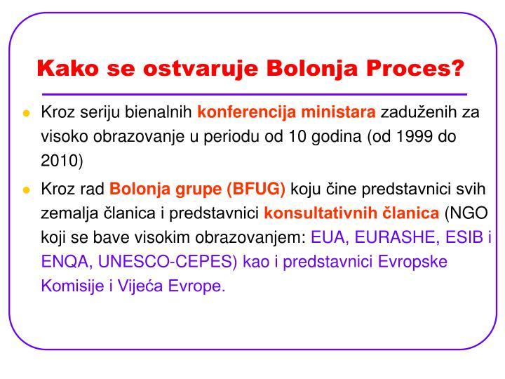 Kako se ostvaruje Bolonja Proces?