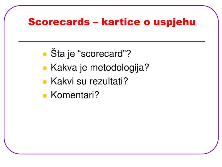Scorecards – kartice o uspjehu
