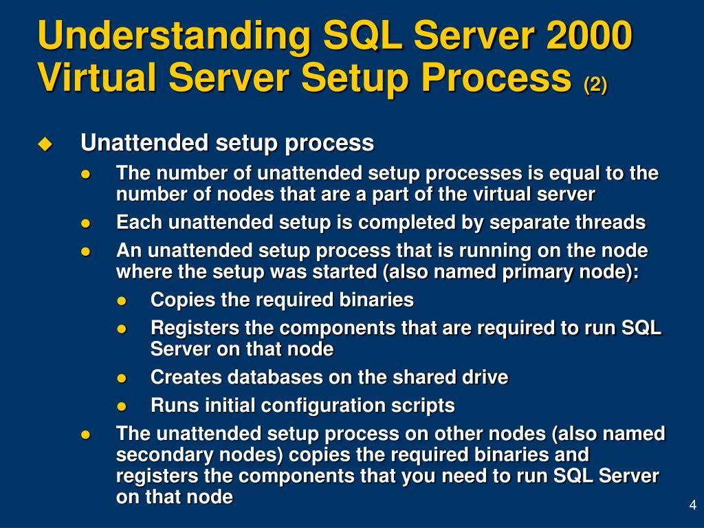 Understanding SQL Server 2000 Virtual Server Setup Process