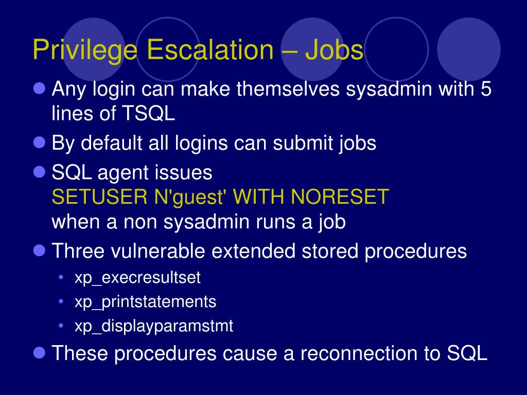 Privilege Escalation – Jobs