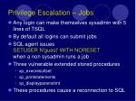 privilege escalation jobs
