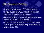 sql password sniffing13