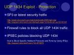 udp 1434 exploit protection