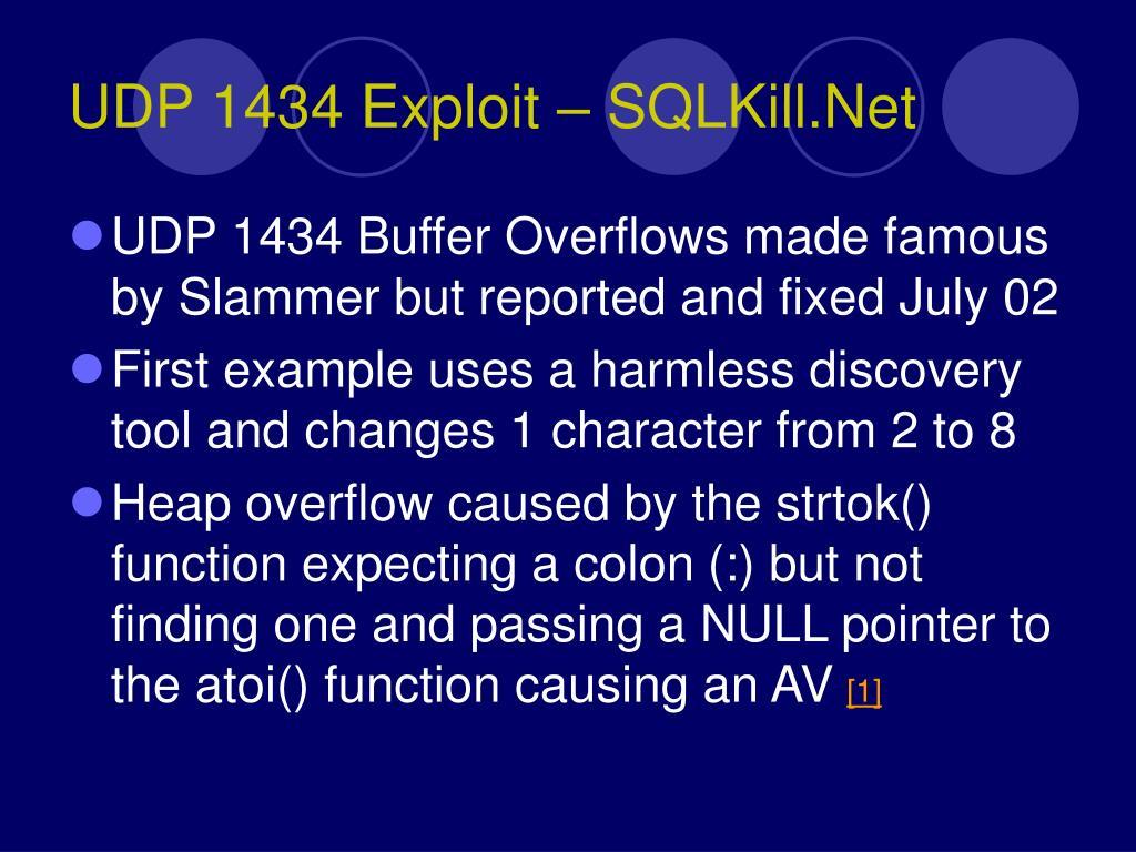 UDP 1434 Exploit – SQLKill.Net